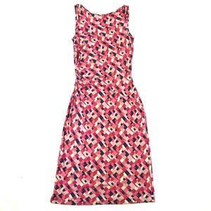 Diane Von Furstenberg Pink Squares Jersey Dress
